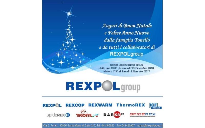 Auguri di Buon Natale e Felice Anno Nuovo dalla famiglia Tonello e da tutti i collaboratori di REXPOLgroup